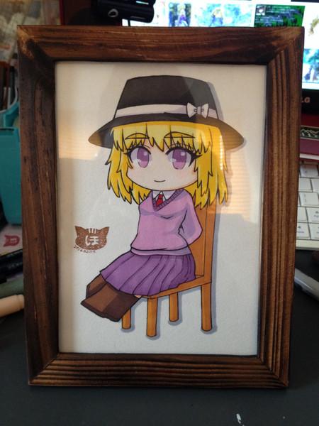 蓮子帽をかぶったメリー(肖像画)