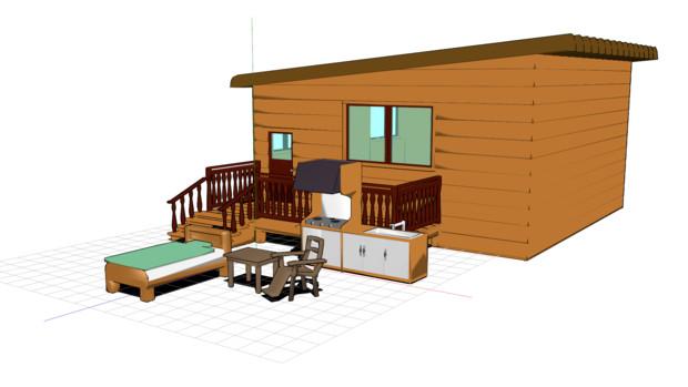 【MMD】~小屋とか配布してみます。~【MMM】