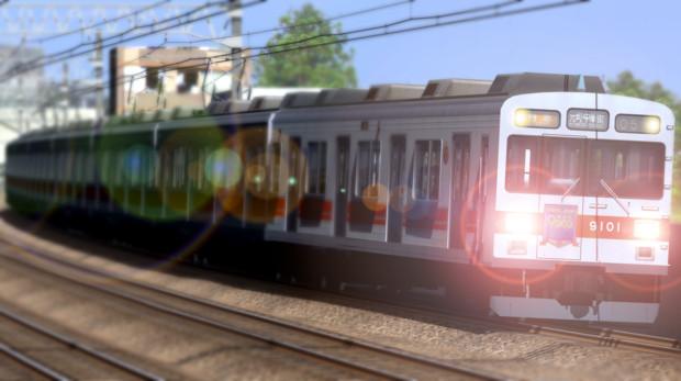 まもなく 1番線を 特急電車が 通過致します。