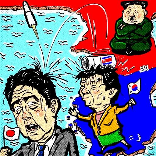 北の国がミサイル発射!
