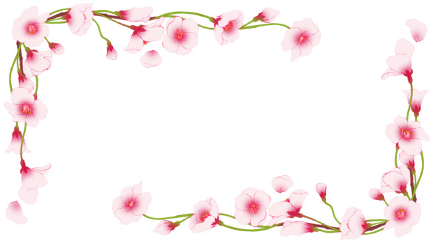 【フリー素材】桜の枠