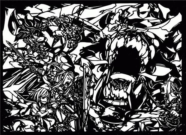 【切り絵】世界樹の迷宮Ⅰ