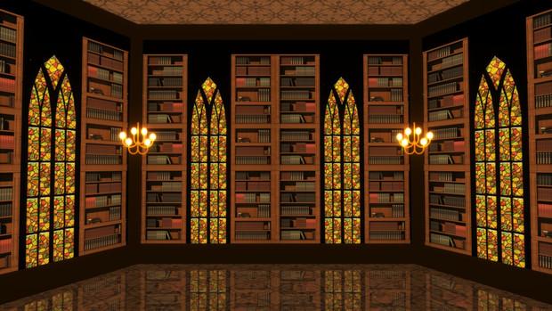 【MMDステージ配布】図書館 ST34【AL対応】