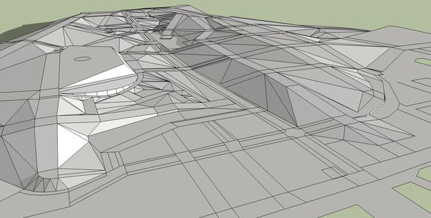 MMDオークランドが出来てきました。その51 地面のデータを製作中です。