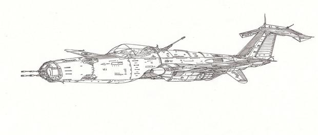 空間高機動爆撃機モスキート「自作機」