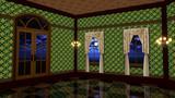 【MMDステージ配布】黄緑模様の部屋 ST36【AL対応】