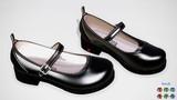 【MMDアクセサリ配布】 メリージェーン 5(革靴)