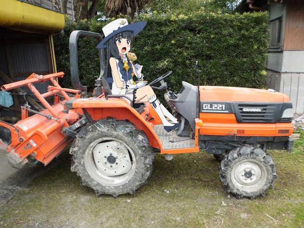 放課後のプレアデス いつき トラクターの運転