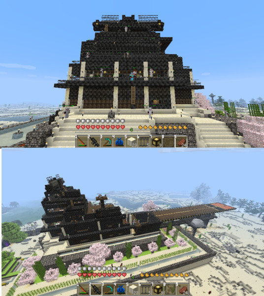 minecraftの自宅。