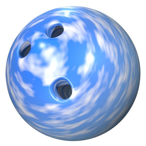 青空のボウリングボール