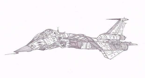 空間汎用戦闘攻撃機グルース「自作機」