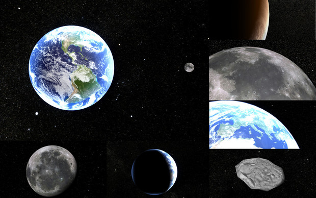 MMD用モブ地球圏ステージ