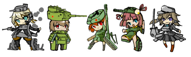 擬人化戦車詰め合わせ