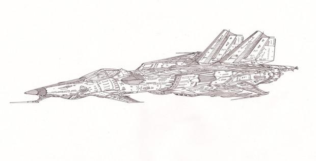 空間多用途戦闘雷撃機チャイカ「自作機」