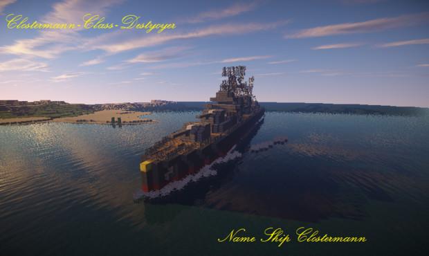 【Minecraft】クロステルマン級駆逐艦