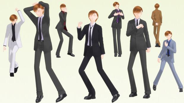 【MMD】165_01 スーツ【衣装配布】