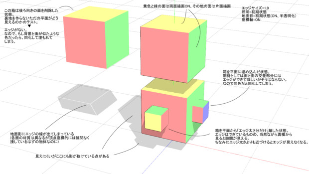 【MMD】横着したメカモデリングにおけるエッジの考察