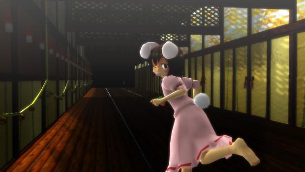 【永遠亭廊下ステージっぽいの】廊下は走っちゃいけません!