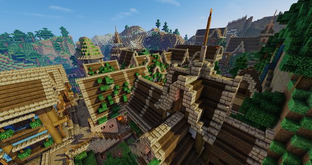 マインクラフトのすごい街 木材の村