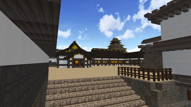 慶長-大坂城―黒鉄門より奥御殿を望む―