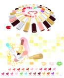 【MMDアクセサリ配布】25色ルージュ~たべものカラーバリエーション~