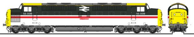 イギリス国鉄Class55ディーゼル機関車インターシティー塗装(嘘)