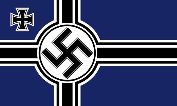 青黒色板ナチスドイツの出戰旗