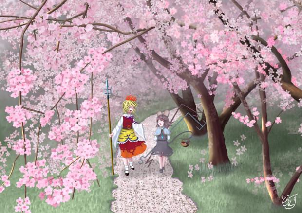 桜咲く樹の下で