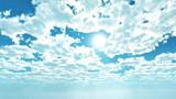 【MMDステージ配布】白い雲の朝空 PP6【スカイドーム】