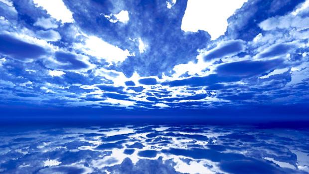 【MMDステージ配布】水彩調の曇り空 QQ4【スカイドーム】