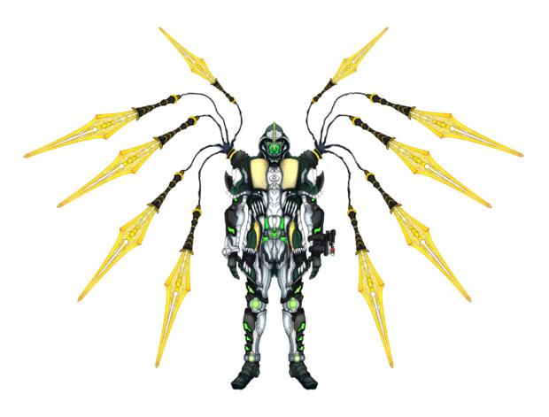 仮面ライダーネクロム グリム魂 ショルダー佐藤 さんのイラスト