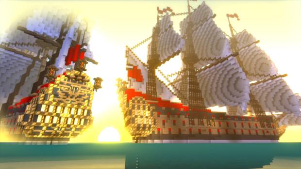 戦列艦 HMS Golden Shield Minecraft Xbox One