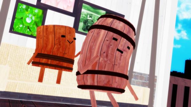 踊って歌う樽