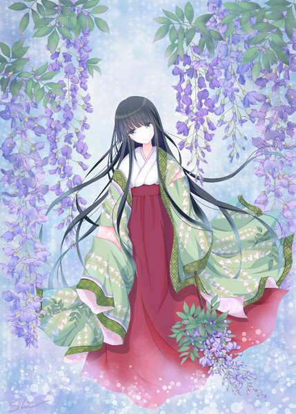 Japanese Wisteria 藤の花 紫乃 さんのイラスト ニコニコ静画