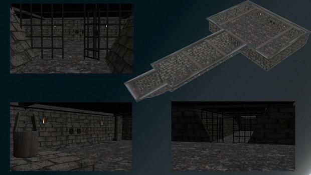 【MMD-OMF6】地下の牢獄ステージ【配布】