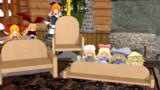 人形達と椅子