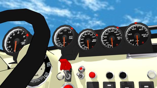 【MMD-OMF6】自動車用追加メーター【アクセサリモデル配布】