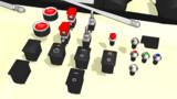 【MMD-OMF6】自動車用スイッチ各種【アクセサリーモデル配布】