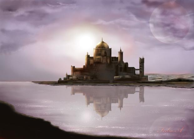 明けの古城