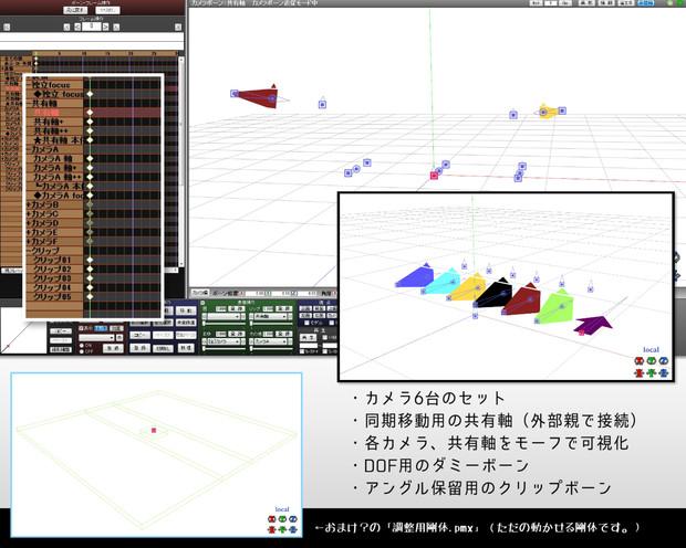 【MMD】撮影用カメラボーン