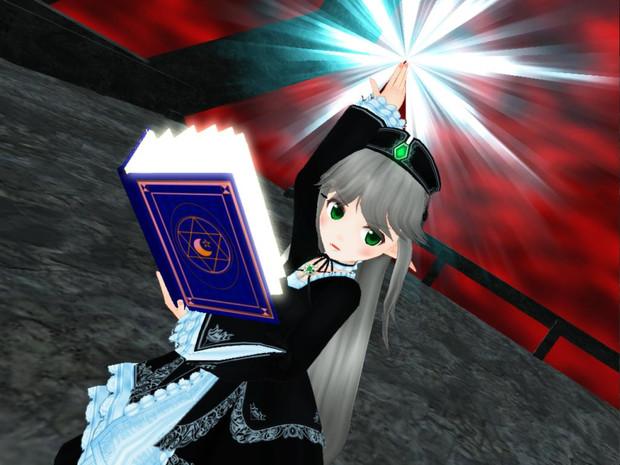 【MMD-OMF6】エイミちゃんと魔導の書
