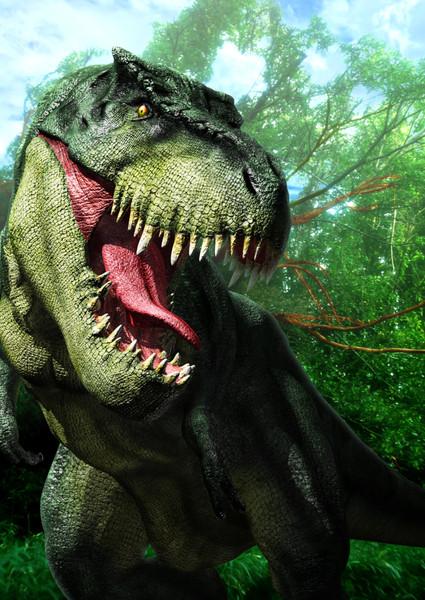 Blender 3DCGでティラノサウルス