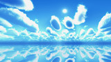 【MMDステージ配布】メルヘン調の青空 SS3【スカイドーム】