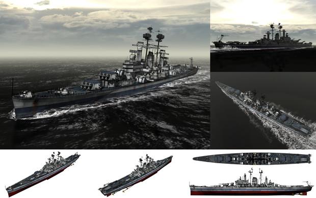 MMD用モブ重巡洋艦1945セット