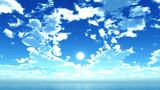 【MMDステージ配布】雲の輪が光る青空 TT3【スカイドーム】