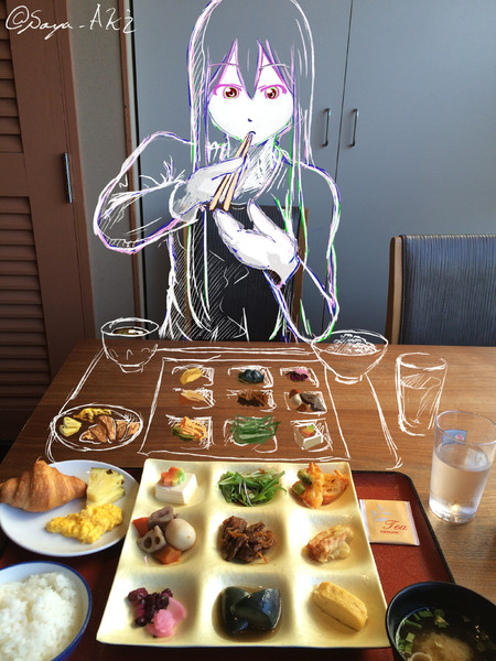 お食事風景 Sayaaki さんのイラスト ニコニコ静画 イラスト
