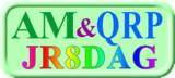 JR8DAGのAM & QRP ホームページロゴ