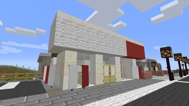 【Minecraft】ドコモショップ 【地方空港とまち】