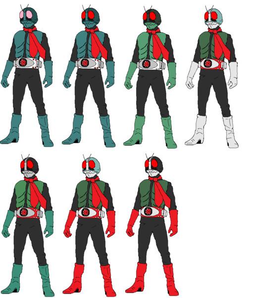 塗り絵で見る初代仮面ライダーのデザイン変化 コノザワ さんのイラスト