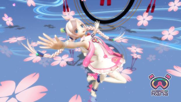 桜と舞うRana